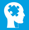 head with puzzle icon white vector image