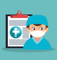 healthcare professional avatar character vector image