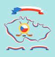 Hockey in Czech Republic vector image vector image