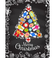 holiday christmas and new year card template vector image vector image