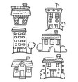 house set hand draw doodles vector image vector image