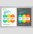 infographic brochure layout template design vector image vector image