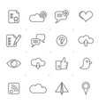internet web and mobile icons vector image vector image