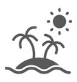island glyph icon travel and tourism palm trees vector image