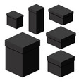 isometric black boxes of different sizes for vector image vector image