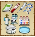 Items from the science lab tube device and other vector image vector image