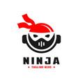 japanese ninja head logo vector image