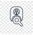job concept linear icon isolated on transparent vector image
