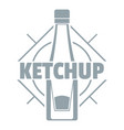 ketchup logo simple gray style vector image vector image