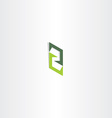 letter z green sign logo icon element vector image vector image