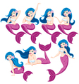 Mermaid Set vector image