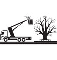 mobile platform truck for cutting trees vector image