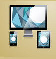 modern application template design for corporate vector image