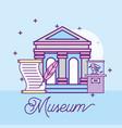 museum monuments design vector image