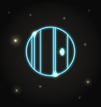 neon planet uranus icon in thin line style vector image vector image