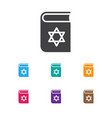 of dyne symbol on jewish book vector image vector image