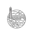 outdoor line art lighthouse vector image