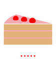piece of cake icon flat style vector image vector image