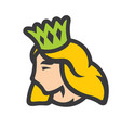 princess with crown sign vector image vector image