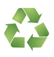 recycle symbol for eco environments vector image vector image