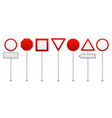 red road signs realistic set vector image