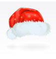 Red santa claus hat with the pattern of golden sno vector | Price: 1 Credit (USD $1)
