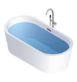 round full water bathtub icon isometric style vector image vector image