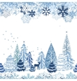 Seamless pattern with winter forest vector | Price: 1 Credit (USD $1)