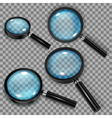 Set of magnifiers vector image