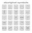 set of monochrome icons with symbols of Australian vector image