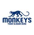 simple monkey logo vector image vector image