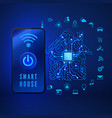 Smart home concept remote monitoring and control