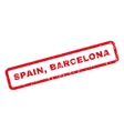 Spain Barcelona Rubber Stamp vector image vector image