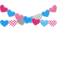 Stitched hearts buntings garlands isolated on vector image vector image