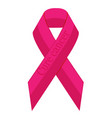 stop breast cancer ribbon awareness vector image vector image