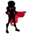 super girl silhouette vector image vector image