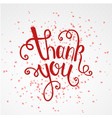 Thank you calligraphy brush painted letters