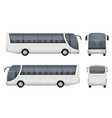 travel bus realistic tourism autobus mockup cargo vector image vector image