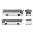 travel bus realistic tourism autobus mockup cargo vector image