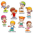 Vocabulary sport character
