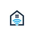 wifi house logo icon design vector image vector image