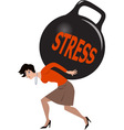 Woman under stress vector image vector image