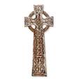 wooden celtic cross vector image