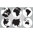 World continents vector image vector image
