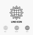 world globe seo business optimization icon in vector image vector image