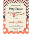 Beautiful baby girl shower card vector image