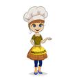 woman chef vector image