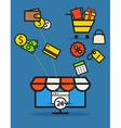 Modern web commerce vector image