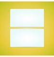 Business card empty white template made in clean vector image