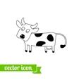 Cow icon 2 vector image